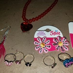 Mixed lot of little girls jewelry